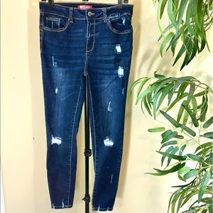 New BUTT I Love You Wax Dark Wash Distressed Jeans